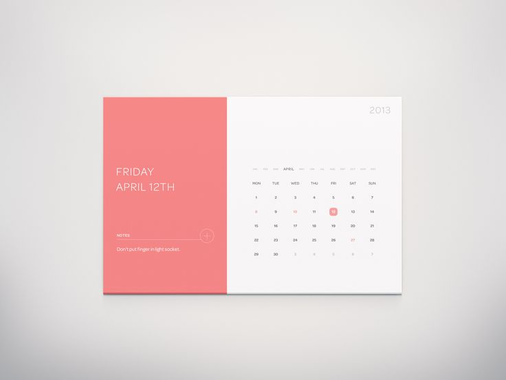 Calendar Widget by Anton Reimertz