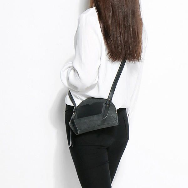 Women PU Leather Shell Retro Vintage Hardware Shoulder Bag Handbag Crossbody Bag - US$30.26