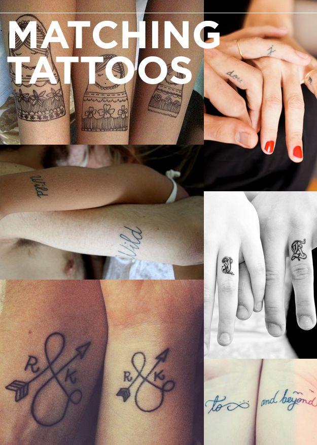 Tatuajes que hacen juego | Los 13 tipos de tatuajes que todos deseamos en el 2013