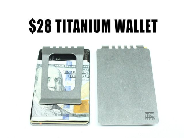 Minimalist Grade 5 Titanium Wallet for Every Day Carry. By Mike Bond on Kickstarter. FINAL WEEK!