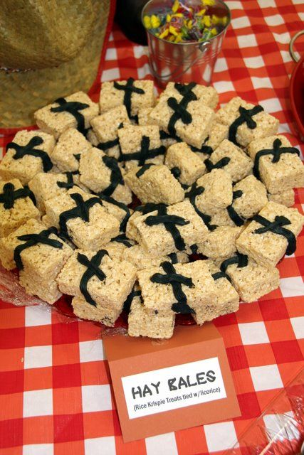 Hay Bales Rice Crispies Tied With Licorice Http Www