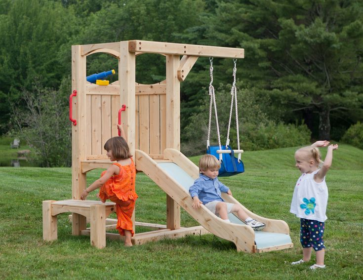 Frolic 4 Wooden Playset and Swing Set | CedarWorks
