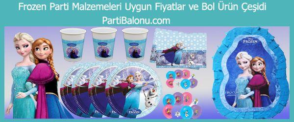 Frozen Parti Malzemeleri Karlar Ülkesinin Prensesi Anna ve Elsa bir diğer adı Frozen neredeyse tüm kız çocuklarının sevgilisi olan karakterlerin tüm ürünleri sitemizde. Frozen Parti Konsepti veya parti organizasyonu yapacağınız doğum günü partilerinizde sizlere lazım olan tüm Frozen parti malzemelerini veya Karlar ülkesi doğum günü süslerini Parti Balonu'nda bulabilirsiniz.