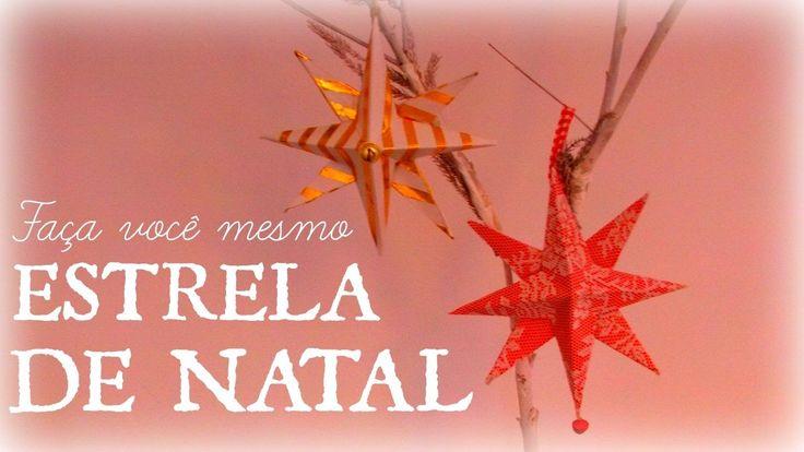 ESTRELA DE NATAL EM PAPEL CARTAO 🎄🎅 ESTRELLA DE NAVIDAD EN CARTÓN