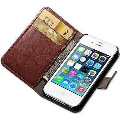Til Etui iPhone 7 Etui iPhone 7 Plus Etui iPhone 6 Etui iPhone 6 Plus Etui iPhone 5 Lommebok Kortholder med stativ Flipp Etui Heldekkende – NOK kr. 470