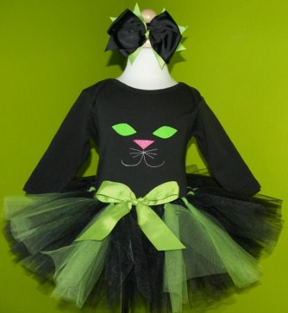 Black Cat Baby Toddler Little Girls Halloween Tutu Outfits
