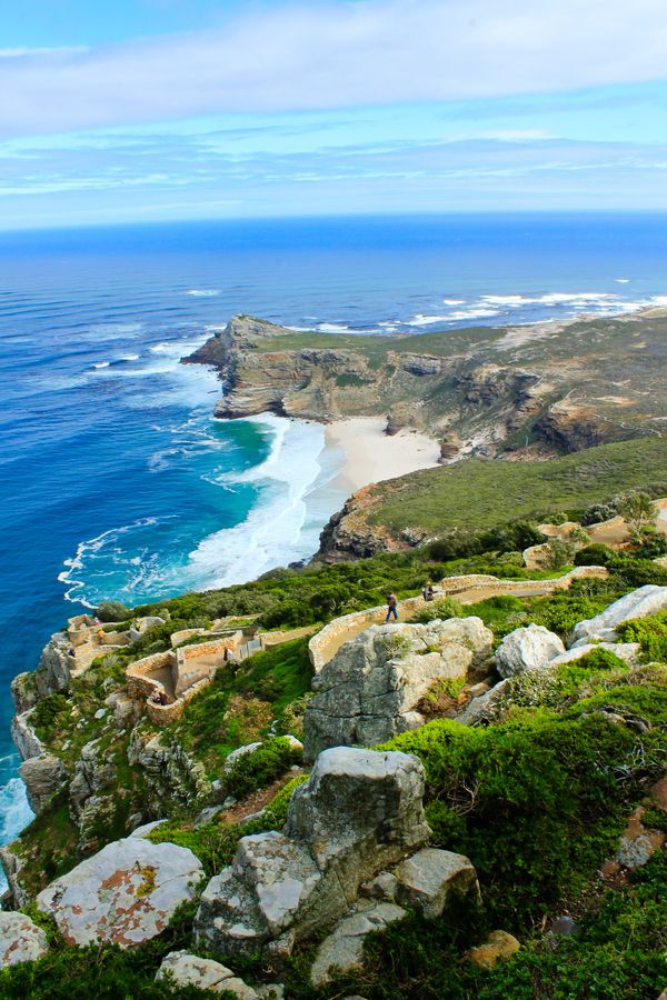 Dias beach and the Cape of Good Hope. Photo taken from Cape Point - Cape Town, South Africa...
