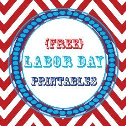 {Free} Labor Day Party Printables: includes labels, banner, and invites labor day party #party #laborday
