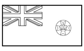 Queensland Flag - Flag History - Colouring Pages