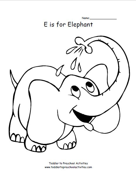 e elephant coloring pages - photo#24
