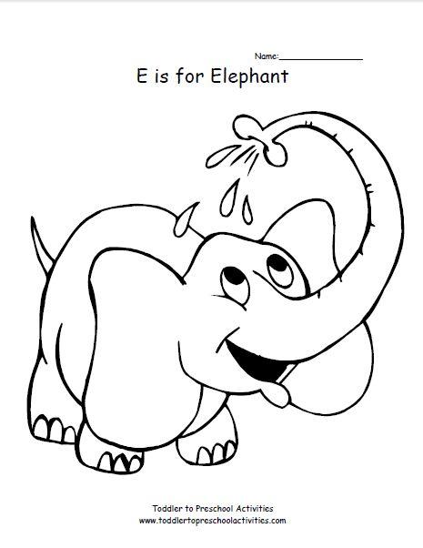 letter e coloring pages elephant - photo#22