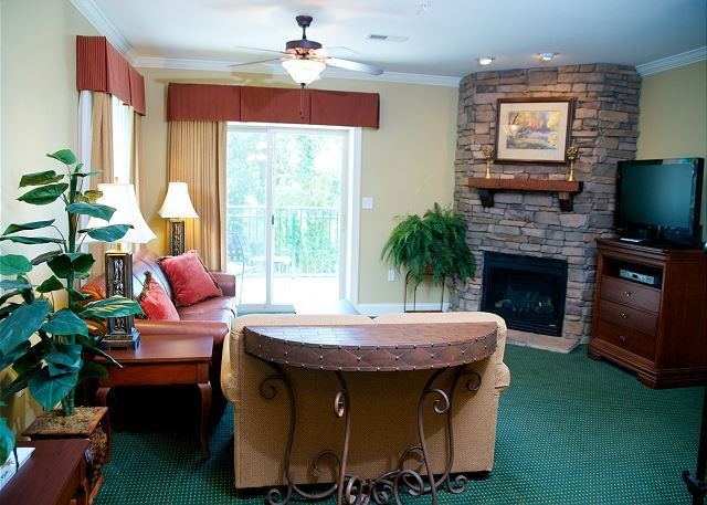 Condo 3001 --  Relax and watch your favorite TV show in the cozy living room after a long day shopping in Gatlinburg