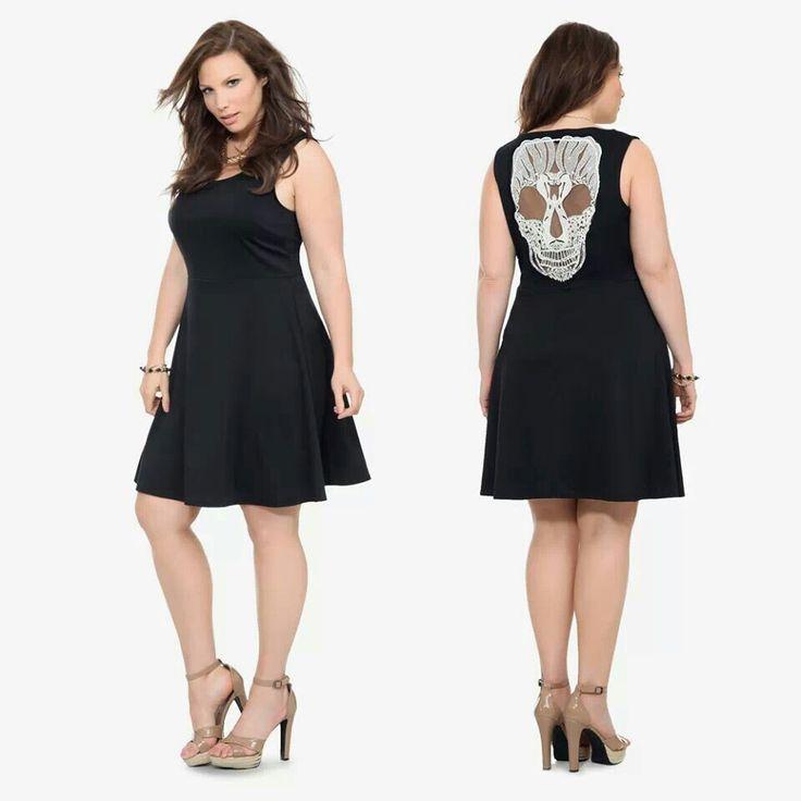 Torrid skull maxi dress