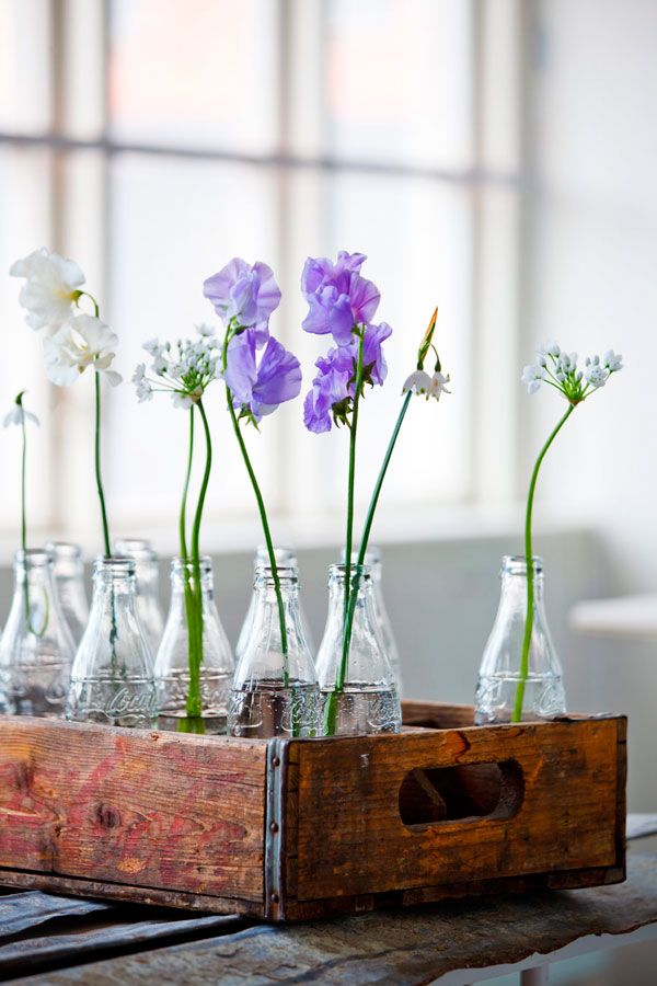 Artful flower display