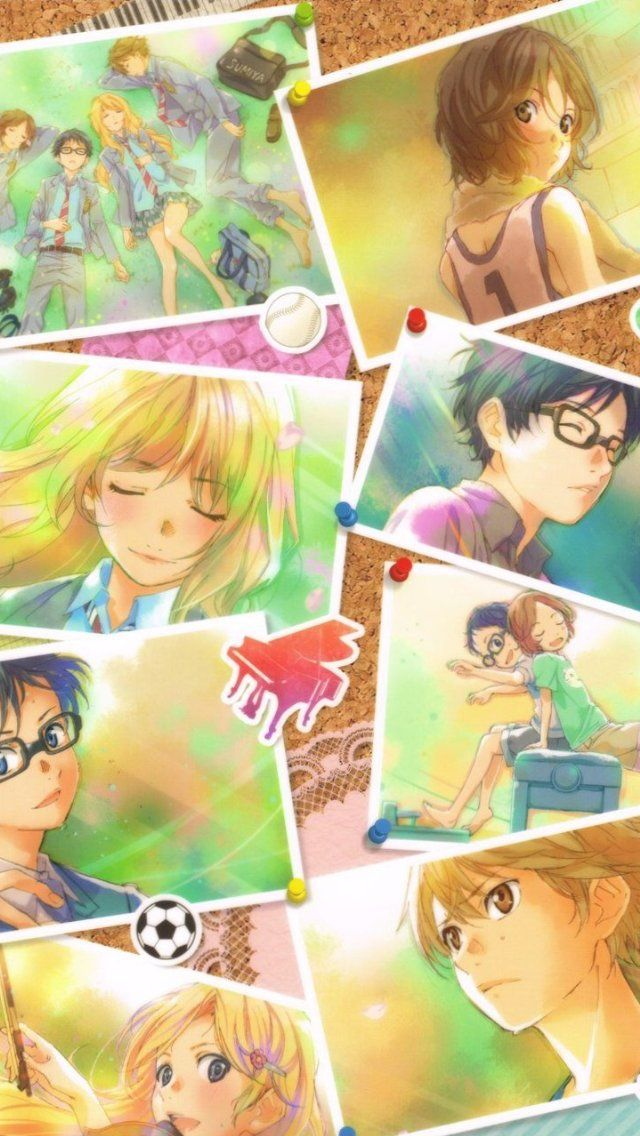 A collage of the first opening theme song. -- Anime, Your Lie In April, Shigatsu wa Kimi no Uso, fan art, moments, characters