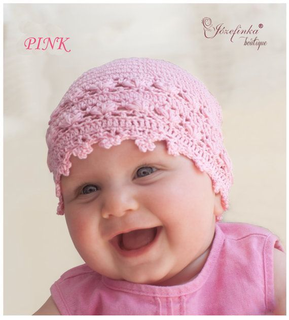 Baby Hat Crochet Baby Hat Hat for Baby Girl by JozefinkaBoutique