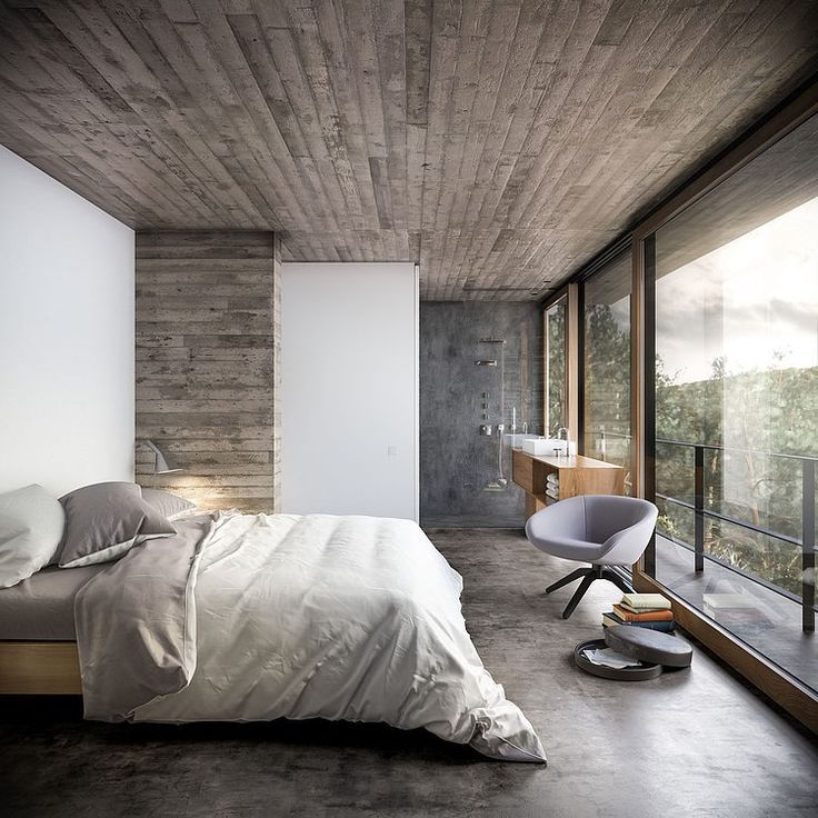House in Nature by Design Raum The weathered wood on a wall would be for