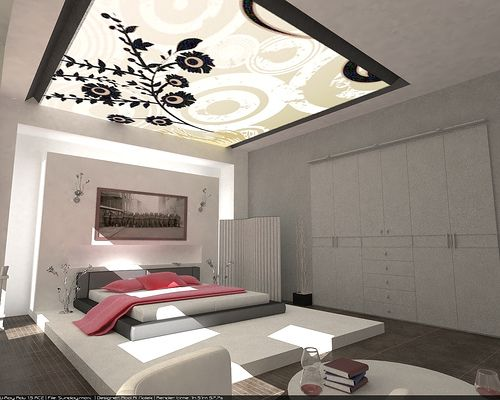 The roof is the master os this big master bedroom décor | Discover more: http://masterbedroomideas.eu/