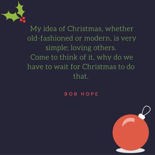 Bob Hope Christmas Motivational Quote