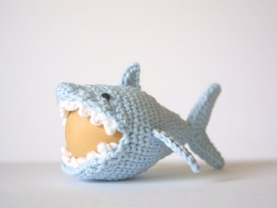 Crochet Shark Egg Cozy PDF Pattern Instant Download by SpringFresh, $3.00