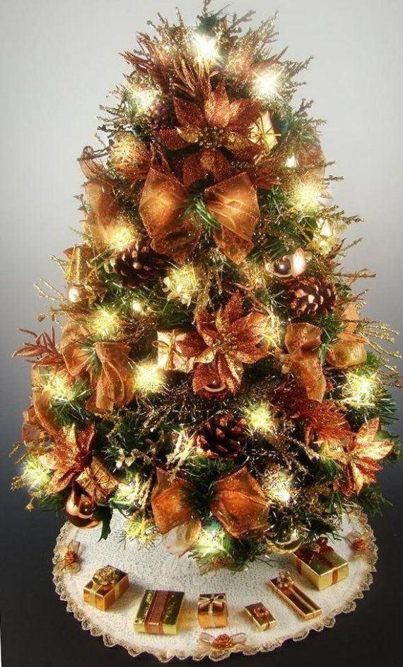 103 best Christmas Trees & Decor Bronze Copper Chocolate ...