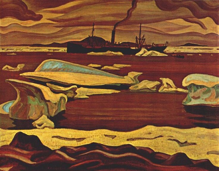 Alexander Young Jackson  The Beothic at Bache Post Ellesmere Island - c.1928