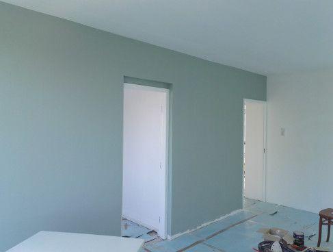 Early dew muur (Flexa) in de woonkamer. Voor meer foto's: ga naar Wendy's Wondere Wereld!