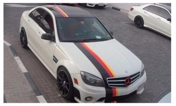 Three Color German Flag Stripe Hood Roof Decal Fits Mercedes Bmw Motorsport German Flag Motorsport Three Color