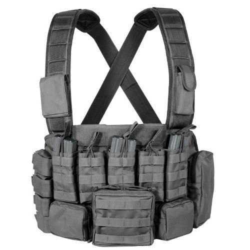 Amazon.com : Condor Recon Chest Rig (Black) : Airsoft Tactical Vests : Sports & Outdoors
