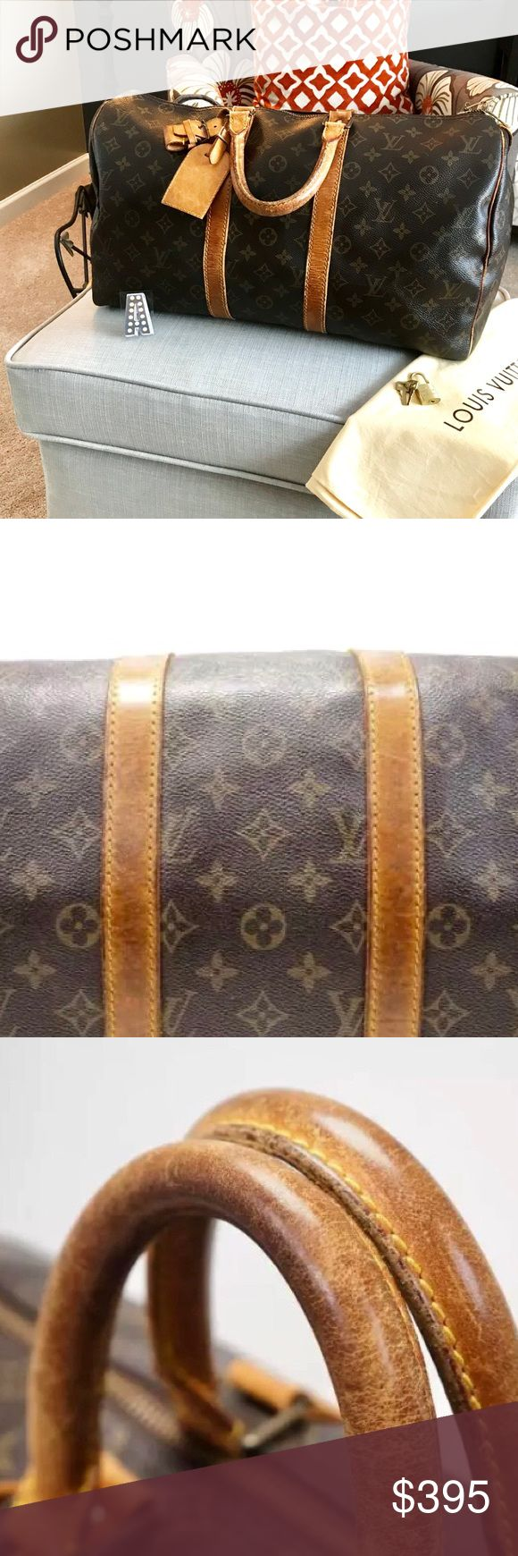 Louis Vuitton Keepall 45 Fair to good condition more details to follow. Aged peace with wear and marks on handles-and straps. Inside in really good condition and hardware polished and fair. Priced accordingly. Louis Vuitton Bags Travel Bags