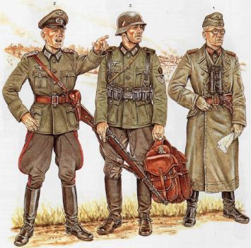Osprey Draw of German Uniforms 02 by Wolfenkrieger