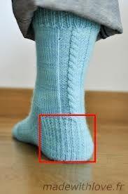 Résultats de recherche d'images pour «tricot bas talon double»