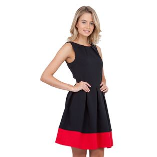 Closet Black Dress with Red Band at www.pamelascott.ie