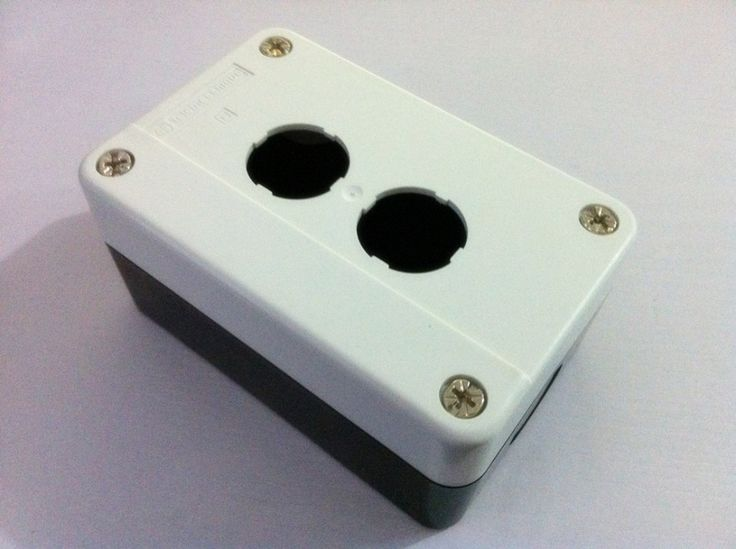 Control Station 2 Switch 22mm Push Button Protector Box
