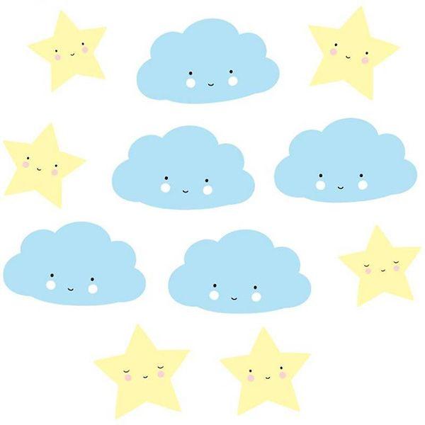 #ALittleLovelyCompany - #wolk #ster #slinger - #cloud #star #garland #party #decoration #kidsroom #nursery #baby #babyshower #littlethingz2