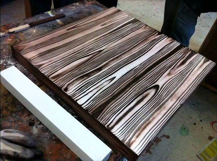 Les 25 meilleures id es de la cat gorie meubles marron fonc sur pinterest murs de chambre for Peinture bois effet