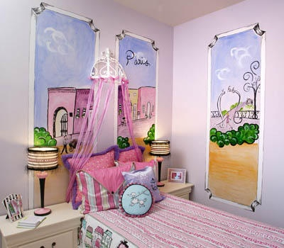 Watercolour paris room decor | LUUUX: Idea, Window View, Paris Rooms Decor, Little Girls Rooms, Paris Theme Rooms, Paris Theme Bedrooms, Paris Bedrooms, Kids Rooms, Little Girls Bedrooms