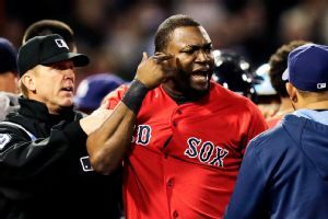 """I was surprised. You can't be acting like a little girl out there,"" Ortiz said. ""You aren't going to win all of the time. When you give it up, that is an experience for the next time. If you are going to be acting like a little b---- every time you give it up and put your teammates in jeopardy, that is going to cost you.""...Ortiz on Rays Pitcher Davide Price intentionally hitting him."
