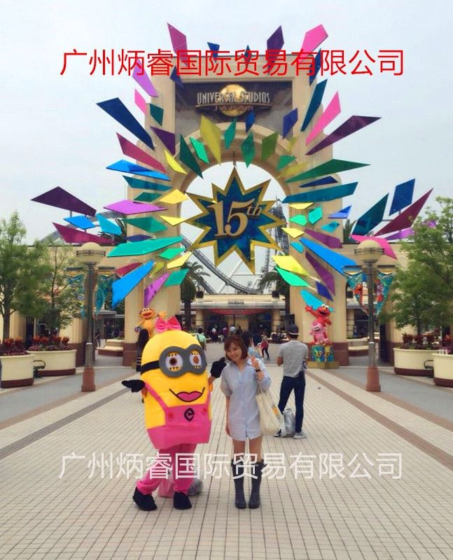 high quality 13 style Despicable me minion mascot costume for adults despicable me mascot costume EPE material fast shipping
