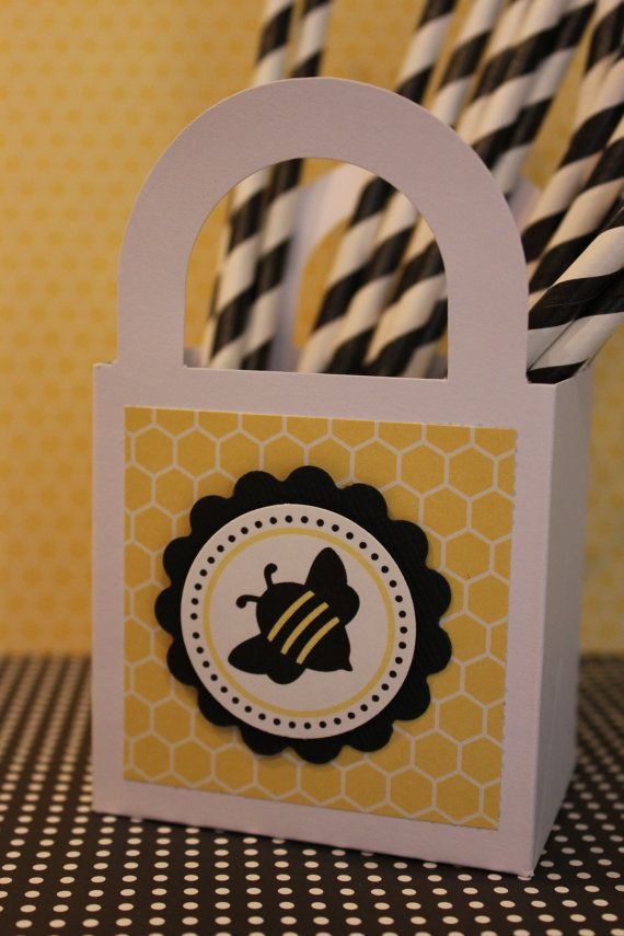 12x Bumble Bee Straws Birthday Party Baby By MyPrettyLittleParty 1200