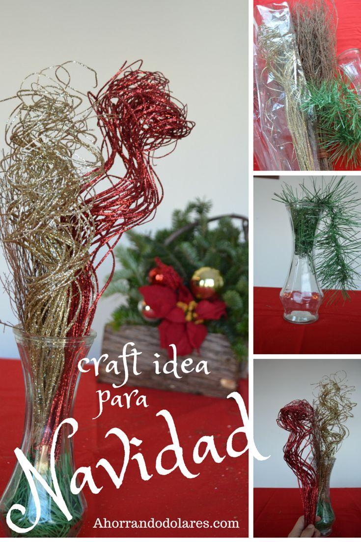 Idea para decorar en Navidad. Sencillo, econmico y rpido. Decoraciones  Navidad. #