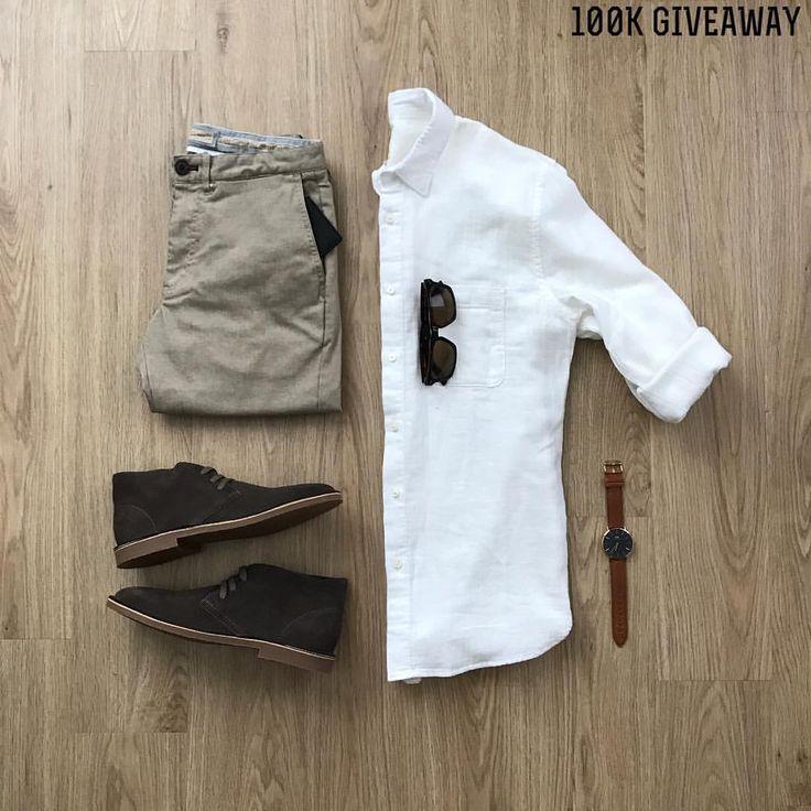 Blanco+Toupé+Chocolate Algodón y Gamuza Gafas solares + Reloj