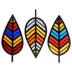 Stain glass leaves