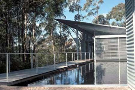Mt Wilson House. Large use of corrugated metal