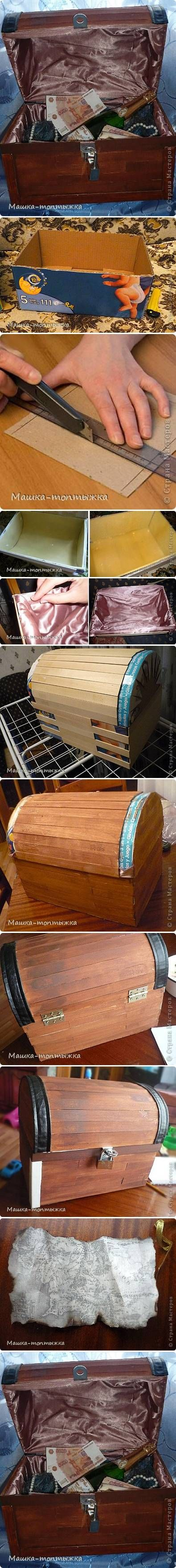 DIY Cardboard Treasure Box