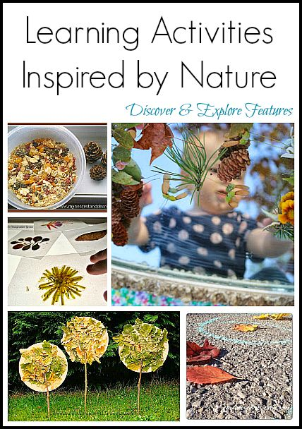 Nature Activites--Simple learning opportunities are just outside your door!