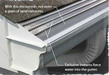 Leaf Solutions Gutter Guard Aluminum Construction With