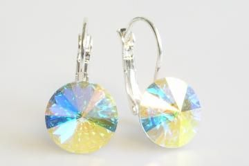 earrings Rivoli 12 mm crystal AB made with Swarovski®  Elements Click to view the picture detail.