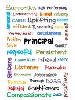 This can be printed and framed for your principal for boss's day or even the end of the year....