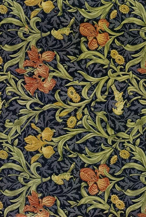 William Morris The decorative arts firm of Morris, Marshall, Faulkner & Co., founded 1861, manufactured wallpapers since 1864.